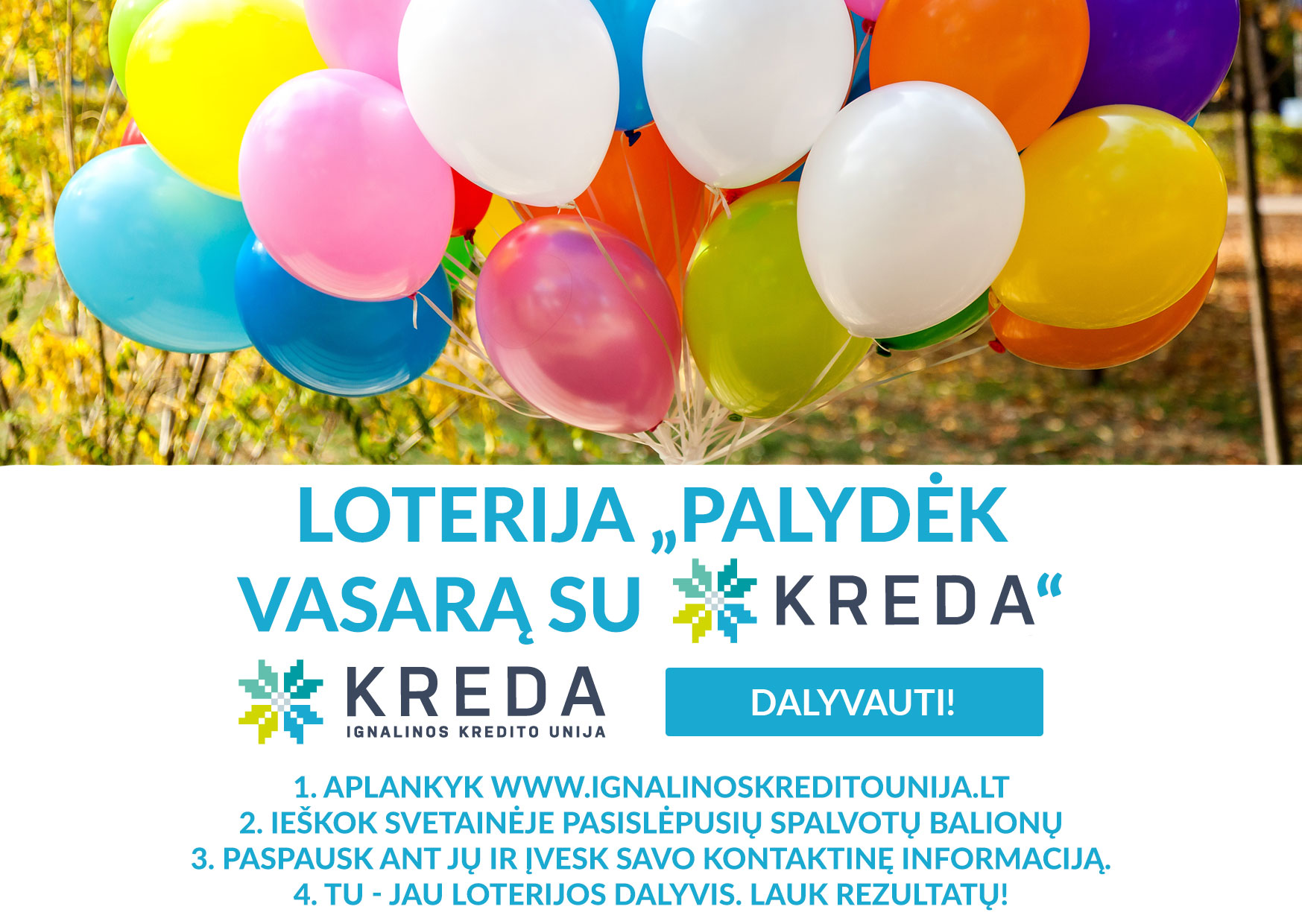 """Ignalinos kredito unija dega žalią šviesą loterijai """"Palydėk vasarą su KREDA"""""""