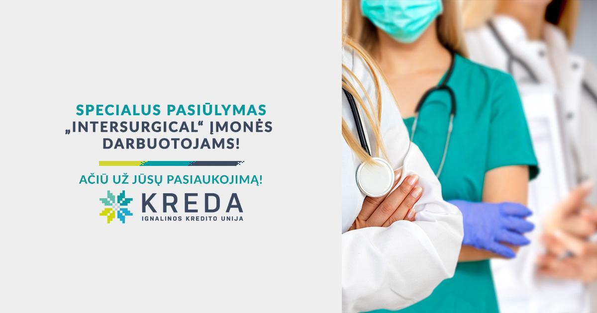 """Pasiūlymas Pabradės """"Intersurgical"""" įmonės darbuotojams"""