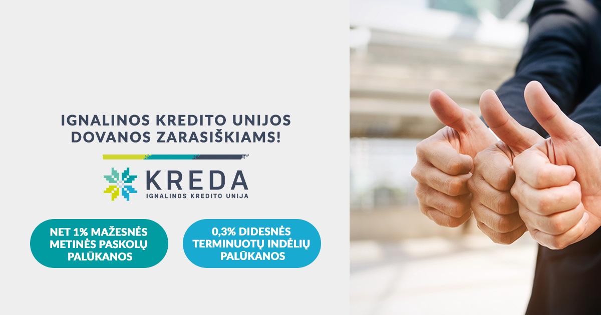 Naujų patalpų Zarasuose atidarymo proga – ypatingos kredito unijos dovanos zarasiškiams